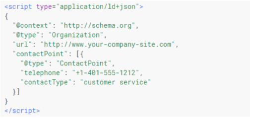 Example of JSON-LD schema.org code